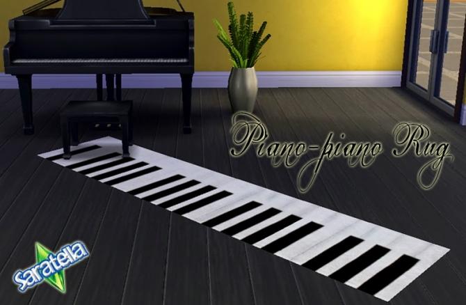 Sims 4 Piano Piano Rug at Saratella's Place