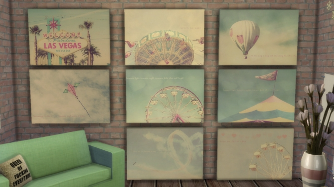Sims 4 Pastel Canvases at DreamCatcherSims4