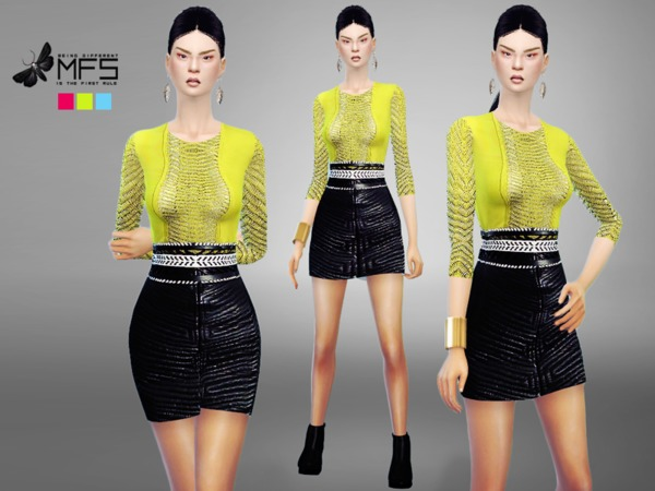 MFS Kylie Dress by MissFortune at TSR image 1530 Sims 4 Updates