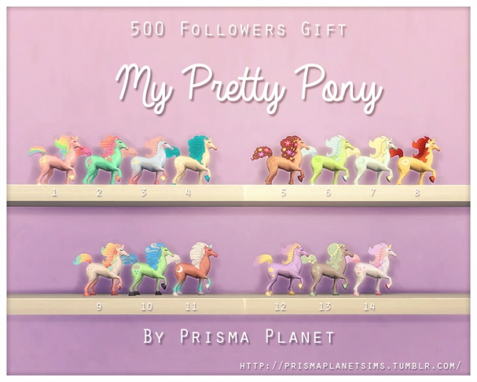 Sims 4 Rainbow pony toys at Prisma Planet