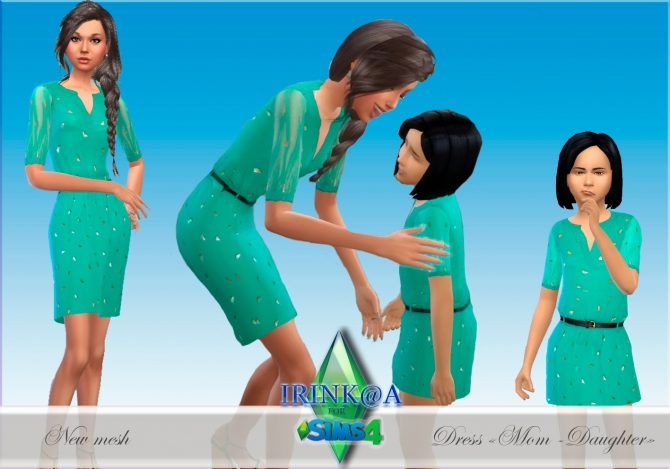 Dress Mom + Daughter at Irink@a image 15612 Sims 4 Updates