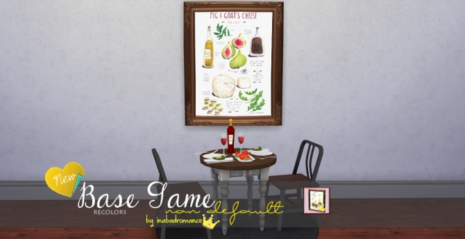 Sims 4 Paintings for restaurant at In a bad Romance
