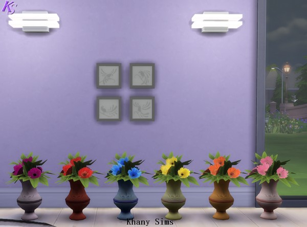 Gerberas flowers plants 6 colors at Khany Sims image 1586 Sims 4 Updates