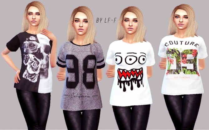 Random T Shirts At Lulufrosty Frog Sims 4 Updates