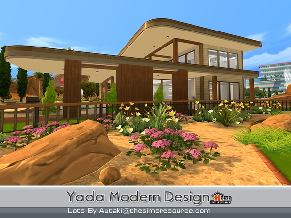 Yada Modern Design house by autaki at TSR image 16104 Sims 4 Updates