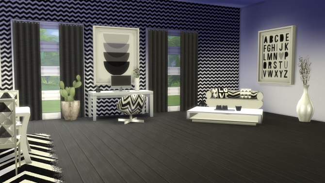 Sims 4 Monochrome collection at Meinkatz Creations
