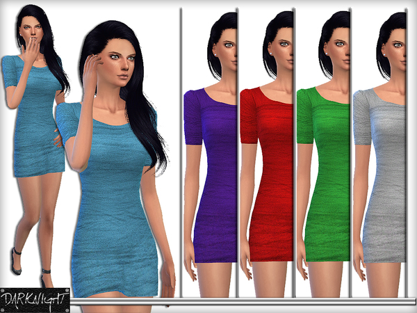 Sims 4 Tulle Fabric Mini Tight Dress by DarkNighTt at TSR