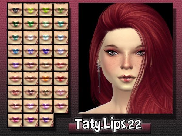 Sims 4 Lips 22 by Taty at TSR