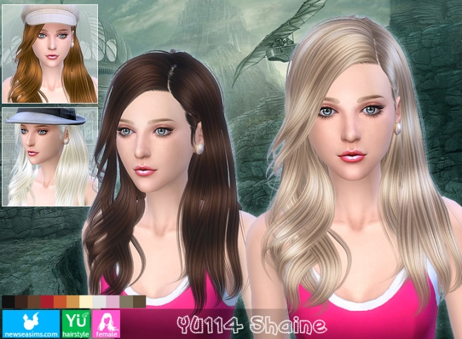 YU114 Shaine hair (Pay) at Newsea Sims 4 image 1678 Sims 4 Updates