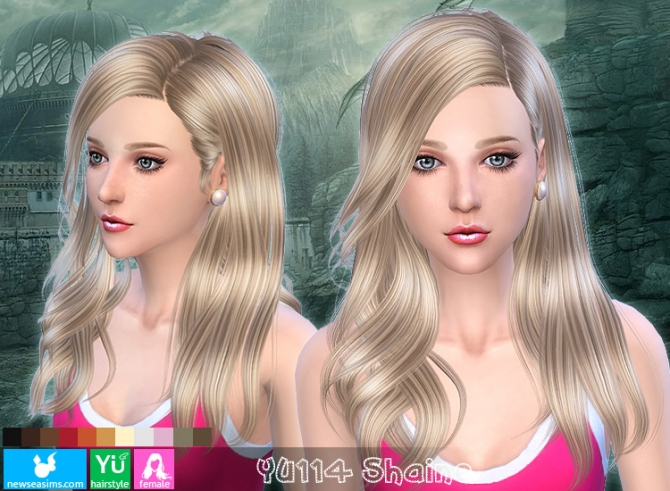 YU114 Shaine hair (Pay) at Newsea Sims 4 image 1688 Sims 4 Updates