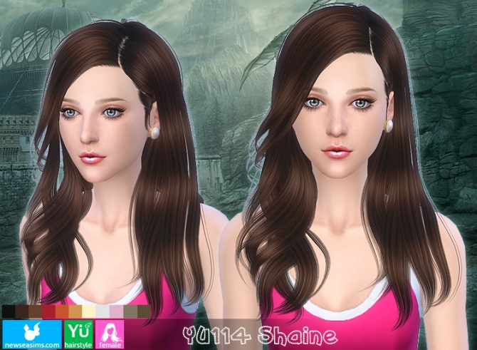 YU114 Shaine hair (Pay) at Newsea Sims 4 image 1697 Sims 4 Updates
