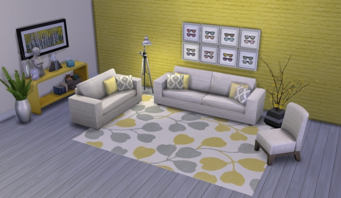 Colour Me Yellow Modern Rugs at Simsational Designs image 1701 Sims 4 Updates