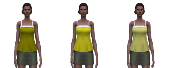 Sims 4 Camisole 25 solid colors at Busted Pixels