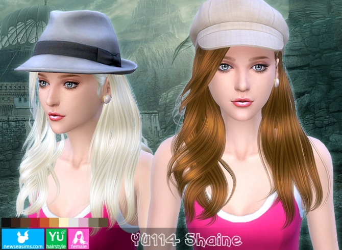 YU114 Shaine hair (Pay) at Newsea Sims 4 image 1708 Sims 4 Updates