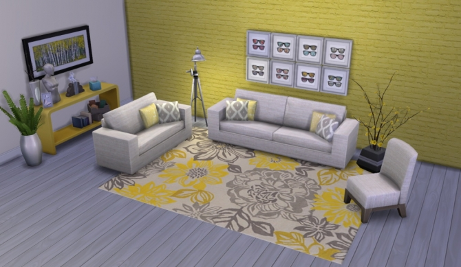 Colour Me Yellow Modern Rugs at Simsational Designs image 1711 Sims 4 Updates