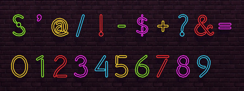 Numbers Neon Signs at NotEgain image 1719 Sims 4 Updates
