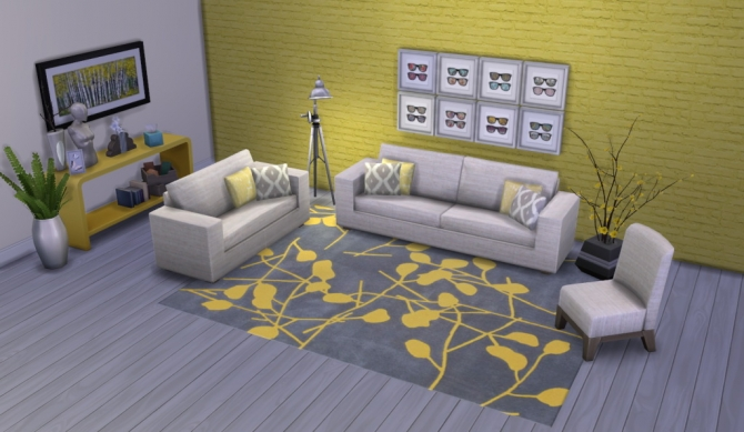 Colour Me Yellow Modern Rugs at Simsational Designs image 1721 Sims 4 Updates