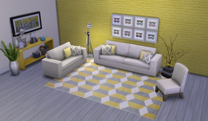 Colour Me Yellow Modern Rugs at Simsational Designs image 1731 Sims 4 Updates