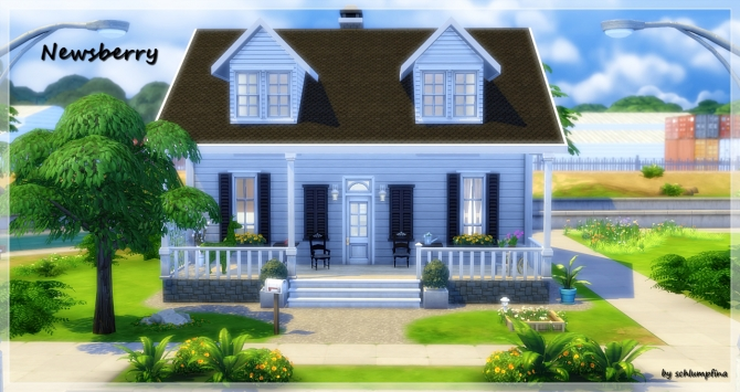 Sims 4 Newsberry House by schlumpfina at My Fabulous Sims