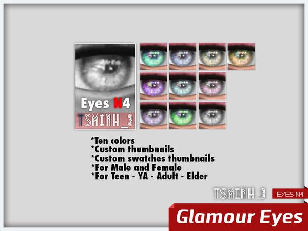 Sims 4 Glamour Eyes by tsminh 3 at TSR