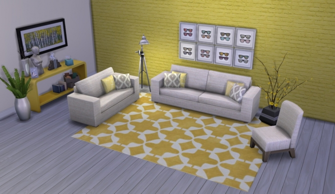 Colour Me Yellow Modern Rugs at Simsational Designs image 1741 Sims 4 Updates