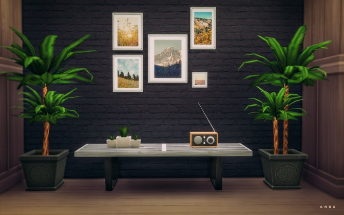 GEORGE NELSON BENCH at Alachie & Brick Sims image 1755 Sims 4 Updates