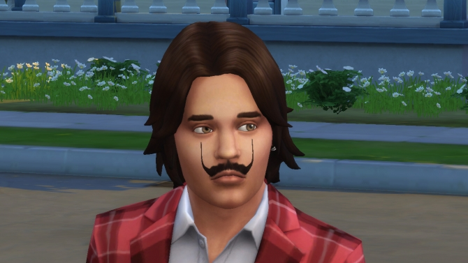 Sims 4 Salvador Dali Mustache by necrodog at Mod The Sims