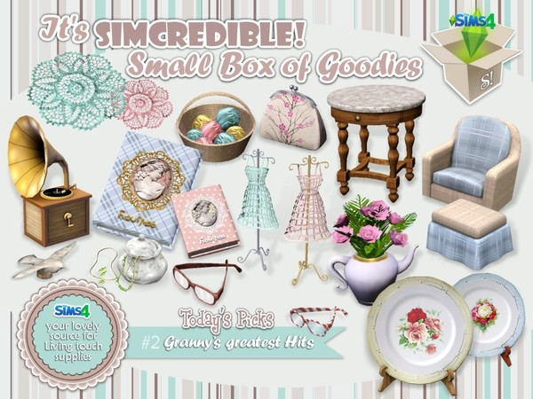 Sims 4 Grannys Greatest Hits clutter by SIMcredible! at TSR