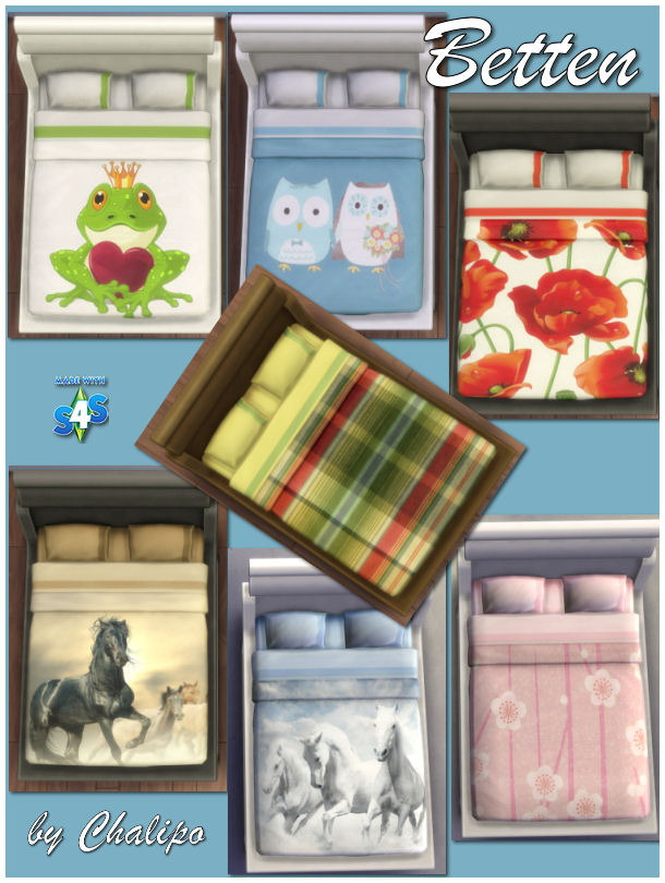 Sims 4 Bedding & Pictures by Chalipo at All 4 Sims