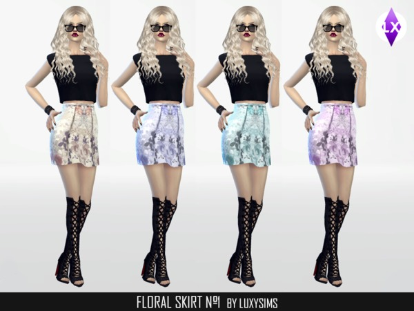 Floral Skirt Nr.1 by Luxy Sims3 at TSR image 1800 Sims 4 Updates