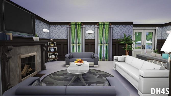 Sims 4 1196 Oakwood Lane, Washington house at DH4S