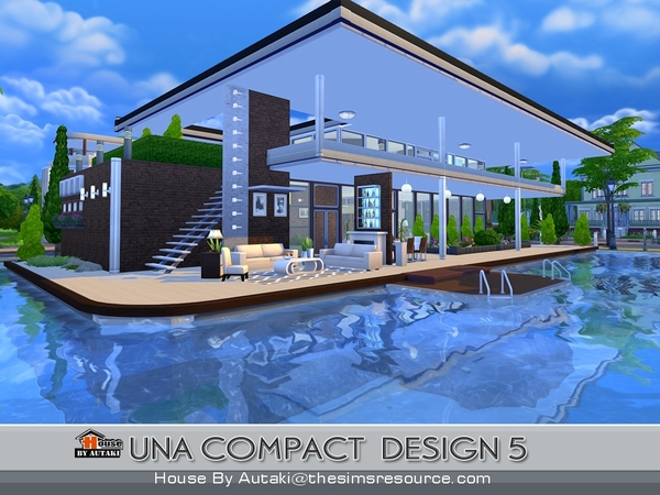 Una Compact Design5 house by autaki at TSR image 1828 Sims 4 Updates