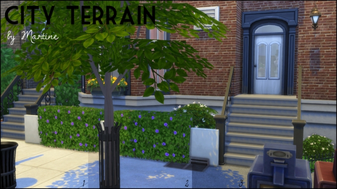 Sims 4 City terrain at Martine's Simblr