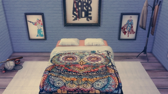 Sims 4 Tulton bed recolours at DreamCatcherSims4