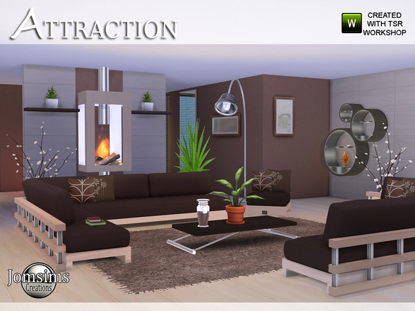 Attraction Living Room By Jomsims At TSR Sims 4 Updates