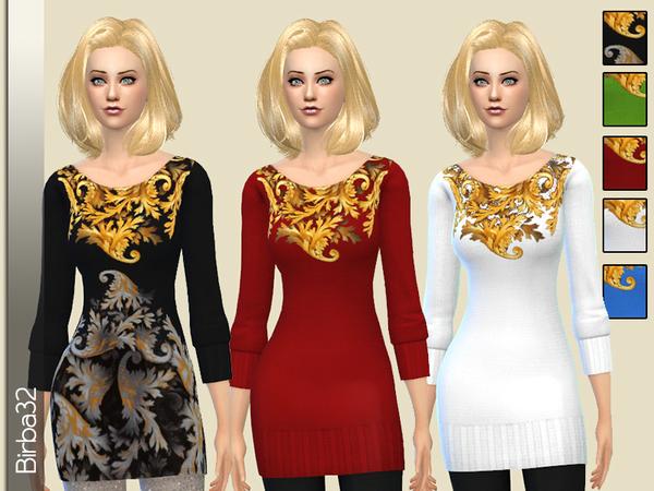 Wool mini dress by Birba32 at TSR image 1912 Sims 4 Updates