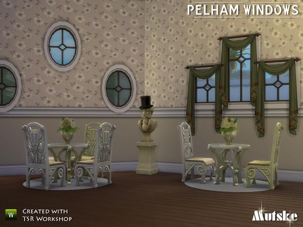 Sims 4 Pelham Windows by mutske at TSR