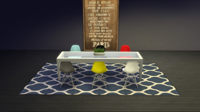Sims 4 Eames Chair 5 recolors at Meinkatz Creations