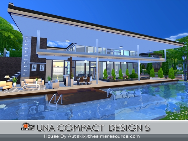 Una Compact Design5 house by autaki at TSR image 1925 Sims 4 Updates