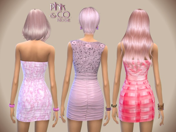 Sims 4 Pink&Co. dresses by Paogae at TSR