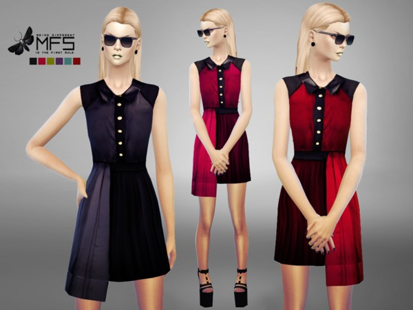Sims 4 MFS Eleonor Dress by MissFortune at TSR