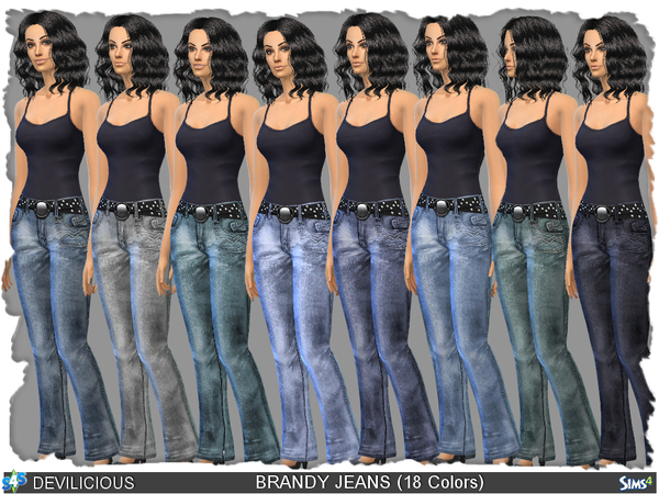 Sims 4 Brandy Jeans by Devilicious at TSR