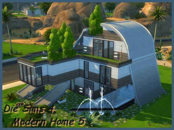 Sims 4 Modern Home 5 by Maxi Sims at Akisima