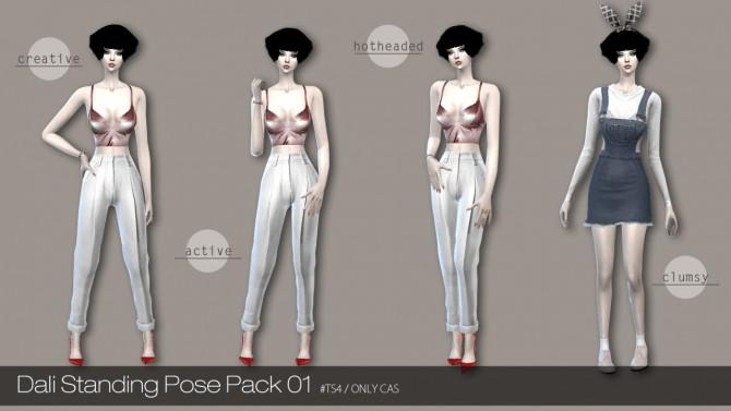 Sims 4 Standing pose Pack 1 at Dali Sims
