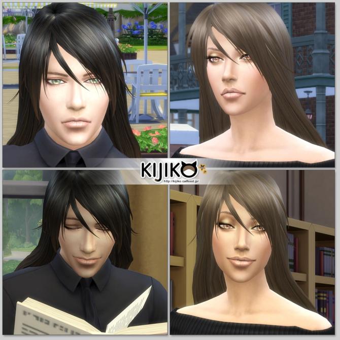 Sims 4 Long Straight hair for males at Kijiko