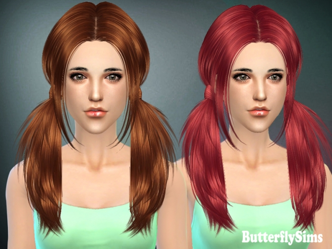 B fly Hair 068 by YOYO (Free) at Butterfly Sims image 2002 Sims 4 Updates