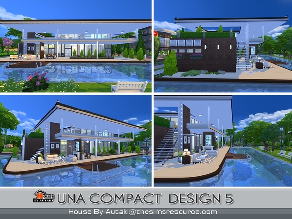 Sims 4 Una Compact Design5 house by autaki at TSR