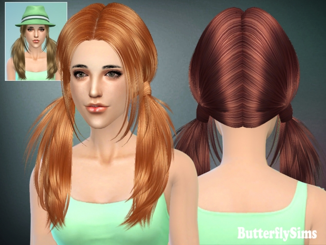 B fly Hair 068 by YOYO (Free) at Butterfly Sims image 2018 Sims 4 Updates