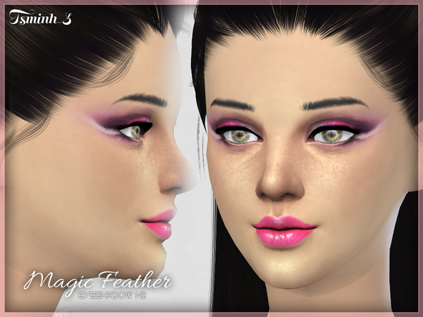 Sims 4 Magic Feather Eyeshadow by tsminh 3 at TSR