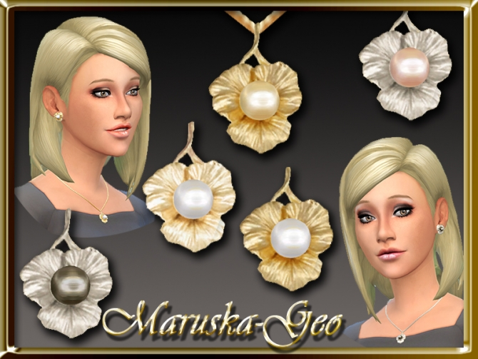 Sims 4 Pearls necklace and earrings at Maruska Geo